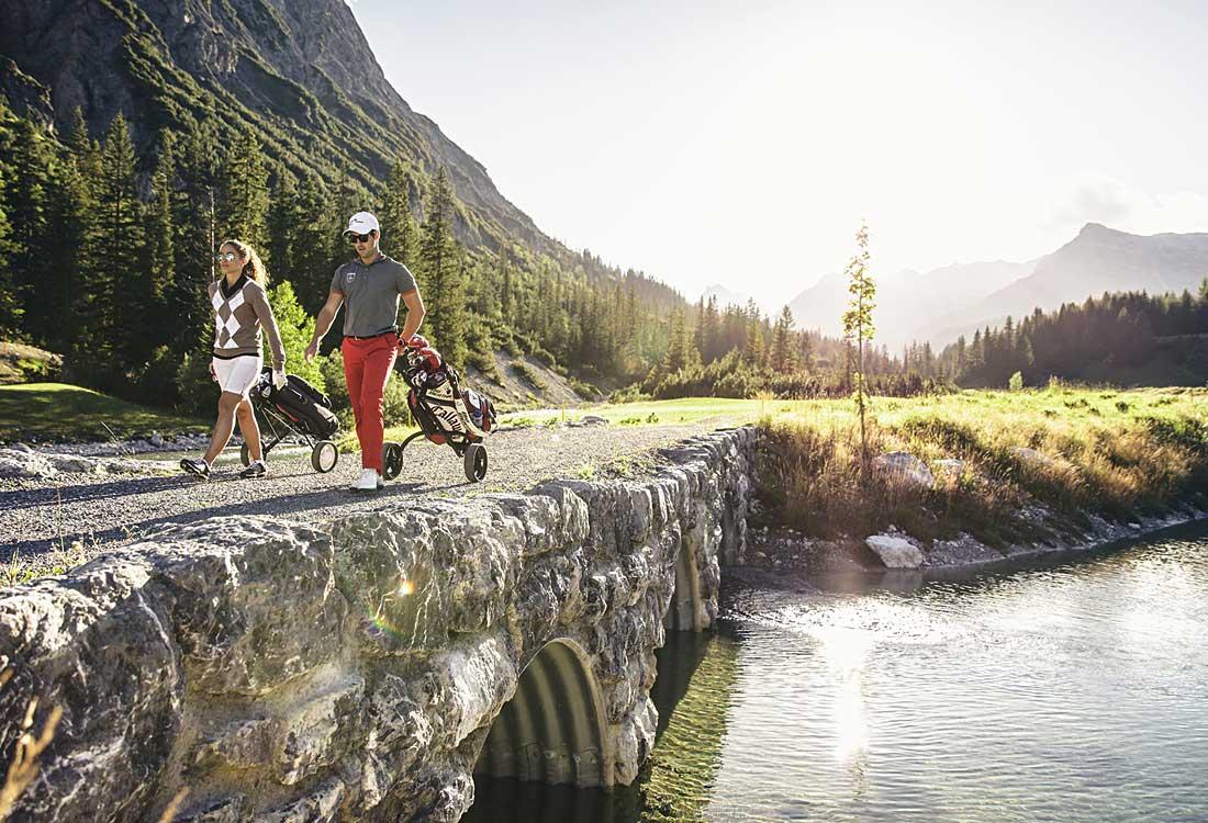 Golfspielen in Lech
