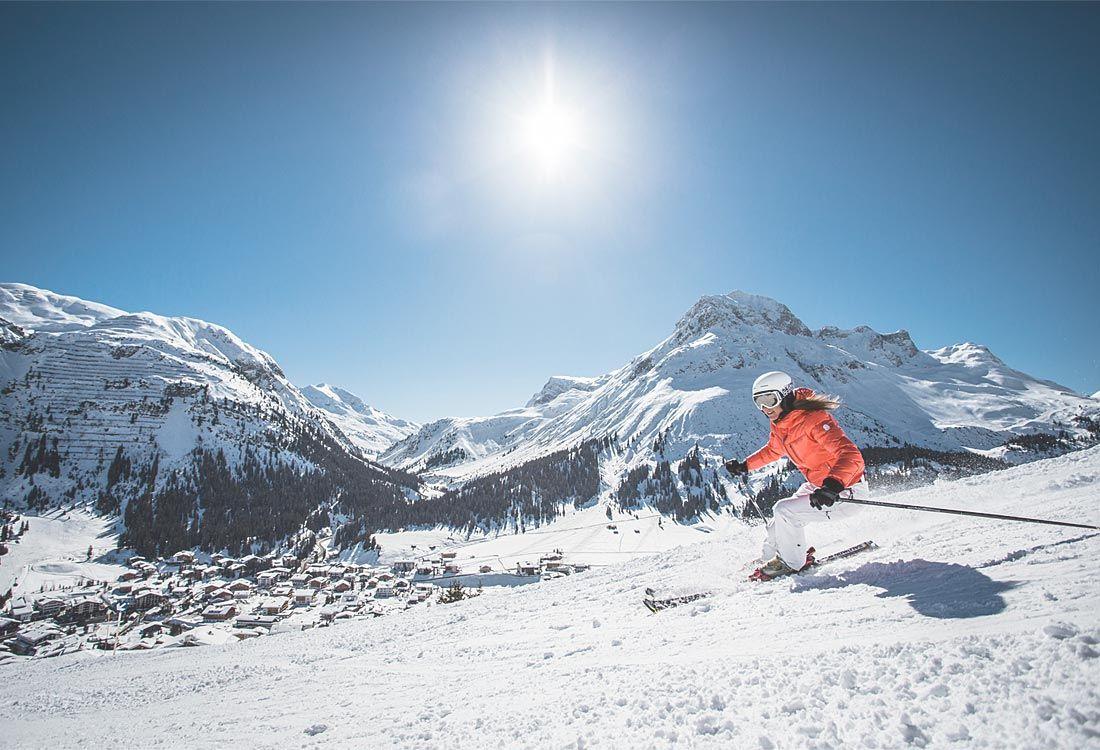 Schneespass im Frühling am Arlberg